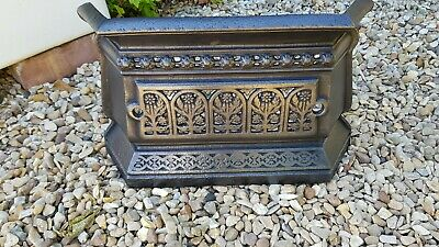 Antique Cast Iron Victorian Tidy Betty - Fireplace Fender Range Grate Fire