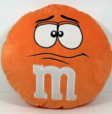 "M&M's Plush Pillow 15"" Orange Collectible"