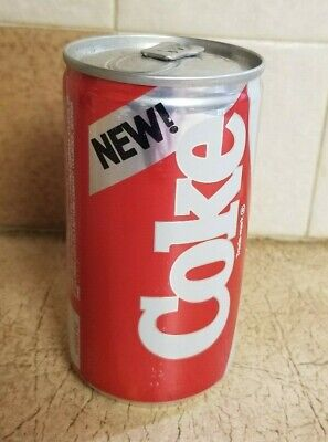 "True Vintage 1985 ""New! Coke"" Original Can Coca-Cola. Filled with ""New"" Coke"