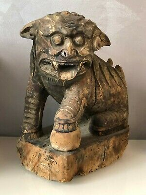 Antique chinese lion (dog-lion) Foo. Qing Dynasty (late 19th, early 20th )