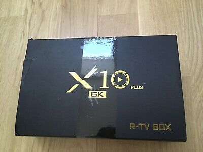 Smart tv Box X 10 Plus 6k