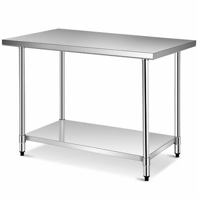 30'' x 48'' Stainless Steel Food Prep & Work Table Commercial Kitchen Table
