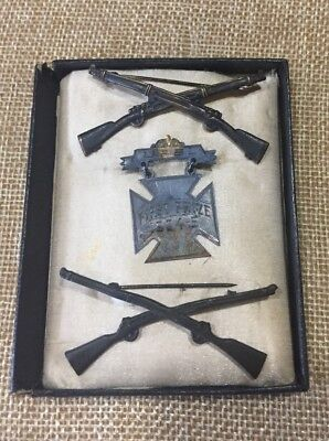 Post Civil War Signed - Infantry Officer's Collar Insignia UPSL First Prize
