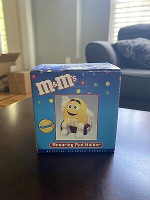 RARE !! M&M's ( Yellow ) Scouring Pad Holder New - Benjamin & Medwin, INC