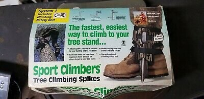 Sport Climbers Complete Tree Climbing System With Belt Made in USA Steel Spikes