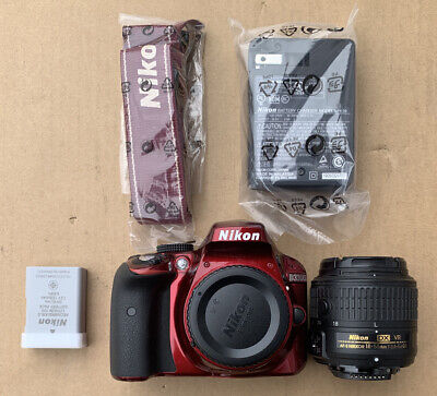 Nikon D D3300 24.2MP Digital SLR Camera - Red (Kit w/ AF-S DX VR II 18-55mm...
