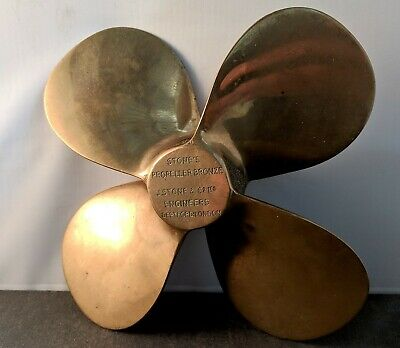 Large Bronze Marine Propeller Salesman's Sample Advertising Paperweight