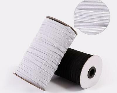 5 ,10 or 20 METRES CORD 3mm FLAT ELASTIC STRETCH  MASK SEWING