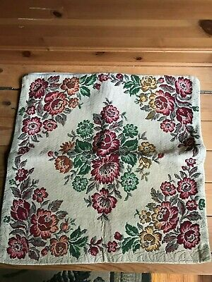 Vtg. Tapestry Throw Pillow Cover