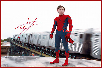 4x6 SIGNED AUTOGRAPH PHOTO REPRINT Of Tom Holland Spider-Man
