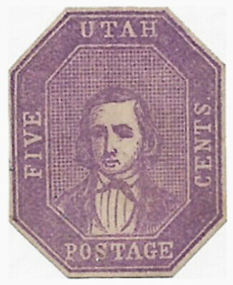 1850s S. Allan Taylor Utah Postage Type III - Brigham Young