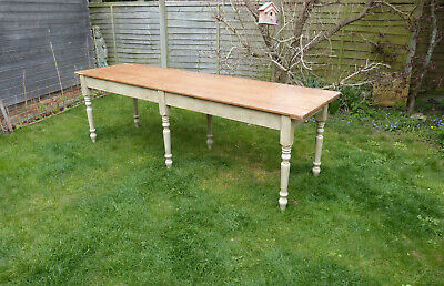 8 ft long pine table
