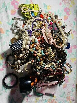Jewelry Vintage-Modern Huge  Lot Craft, Junk, Wearable, Box Mixed Metals