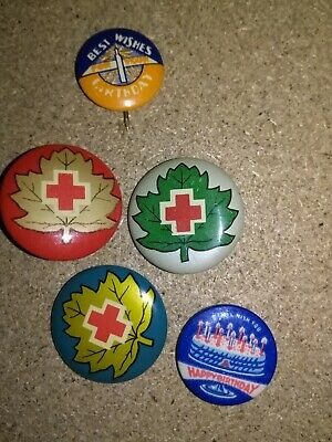 RED CROSS pin BACKS OLD ONES