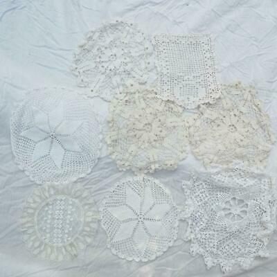 Vintage Lot of 8 Doilies