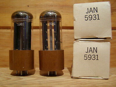 Matched Pair Sylvania Jan 5931 Full Wave Rectifier Vacuum Tube Fully Tested