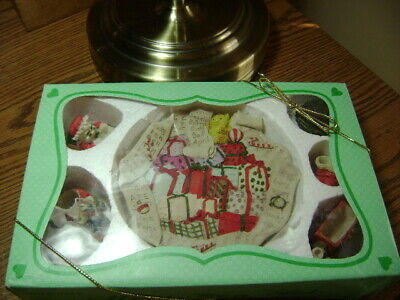 Christmas Holiday Decorative Mini Tea Set Made With Polyresin In Box