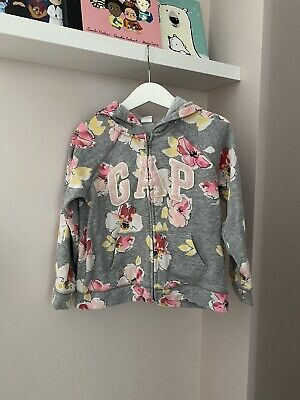 BABY GAP Girls Dloral Hoodie Age 5 Years
