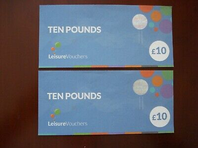 £20 (2 x £10) Leisure Vouchers- Expiry Date 31/08/2021