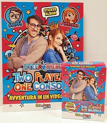 Album Figurine Stef & Phere Two Players One Console + Scatola 30 Bustine
