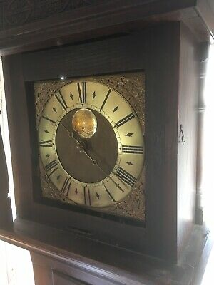 18thC 30hr LONGCASE CLOCK Brass Face 1st Half 18th C by John Rogers Leominster