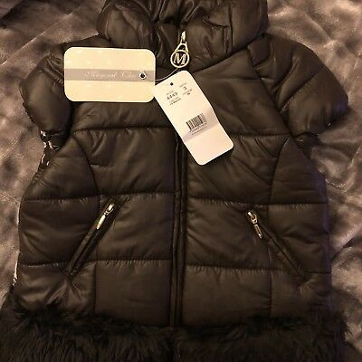 Mayoral Girl Brown Fur Trim Quilted Padded Snow Gilet Jacket Body Warmer 3 Year