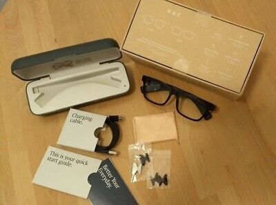Vue Smart Glasses | Bone Conduction Bluetooth | Classic | Ink Black | Clear Lens