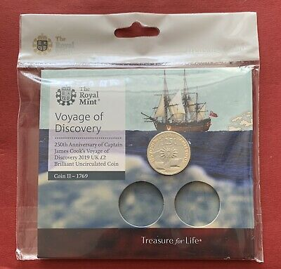 Royal Mint 2019 Captain James Cook Voyage Of Discovery BU £2 Two Pound Coin