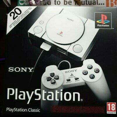 Sony PlayStation Classic Mini Console With 20 PS1 Games Installed