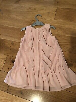 Next Girls Dusky Pink Frill Dress 2-3years Good Condition Party Bridesmaid