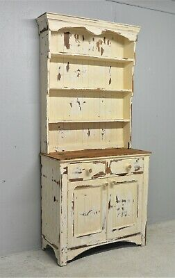 Antique Pine Welsh Kitchen Dresser Tall Shabby Chic Distressed Delivery Avail