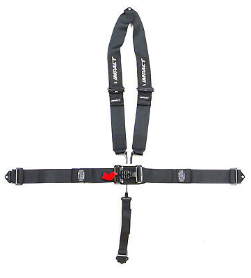 IMPACT RACING Gray Latch and Link 5 Point Harness P/N 59811111
