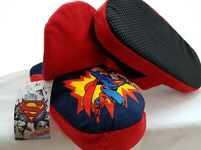 BNWT Marks And Spencer DC Comics Boys Stompeez Superman Slippers Kids Size 3-5