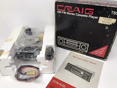 Vintage NEW IN BOX Craig T501 AM/FM Stereo Cassette Player