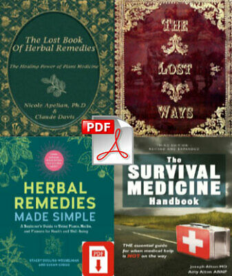 🔥 The Lost Book of Remedies Herbal Medicine The Lost Ways  + 2 FREE P.Ḓ.F 🔥✅