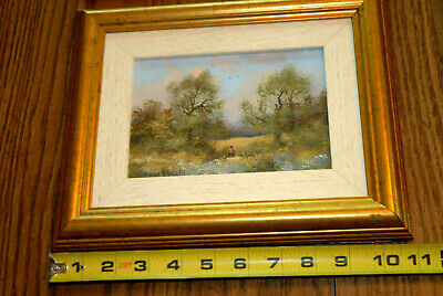 Listed Artist James Wright Original Painting The Meadows Gresham North Norfolk