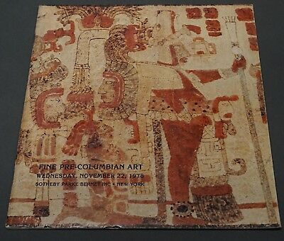 Sothebys Fine Pre-Columbian Art NY December 1978 w/ prices realized