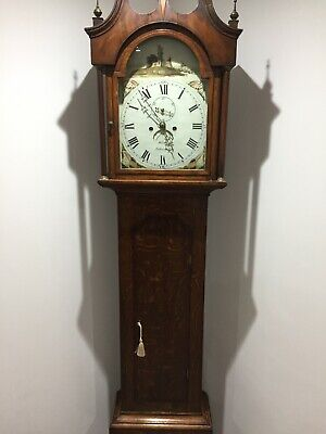 Longcase grandfather clock Rare circa 1810