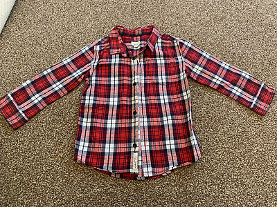 Mini River Island Boys Shirt Age 18-24 Months Red Check