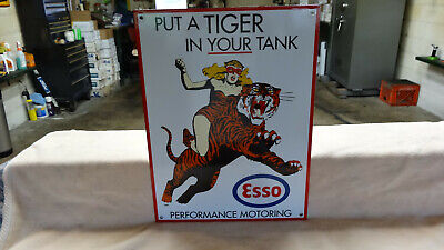 """Esso Gasoline"" Porcelain Advertising Sign, (Dated 1961) Near Mint"