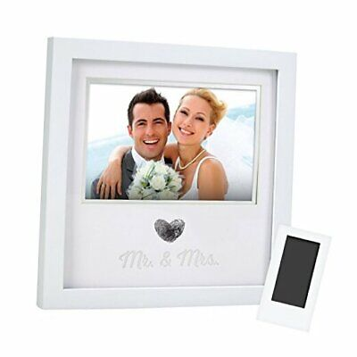 Pearhead Heart Thumbprint Keepsake Photo Frame and Ink Kit, Wedding Registry,