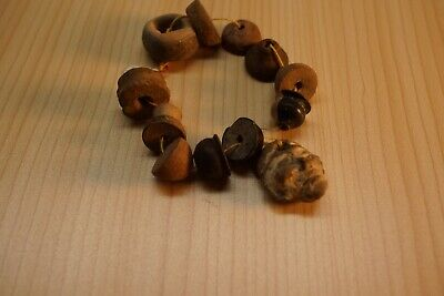 Pre Columbian, Clay Stone  Bracelet Necklace Pendant Beads