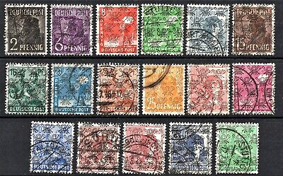 GERMANY 1948 WORKERS OPTED - COMPLETE SET Incl. RED BROWN  - USED