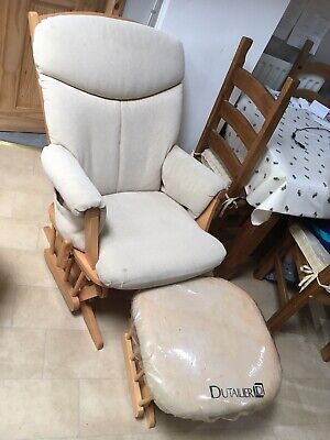Dutailier Gliding Nursing Chair And Footstool