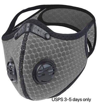 G-Outdoor Riding Face Masks Air Purifying PM2.5 Filter Sport Face Cover+ 3Filter