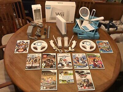 NINTENDO Wii Bundle BOXED (2 Player): 10 Games inc Mario Kart *CLEANED & TESTED*