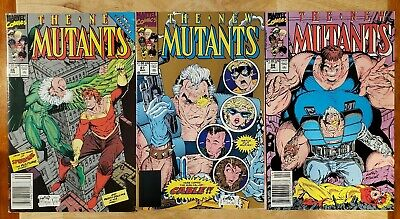 New Mutants #86, 87 (2nd Print), and 88! Cameo and 1st appearance of Cable! MCU!