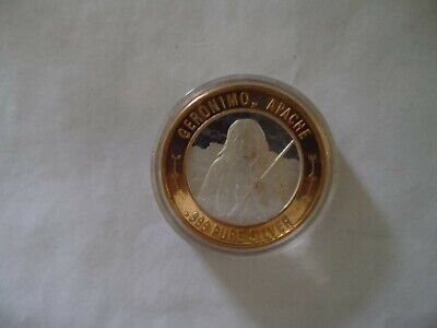 Limited  American Series Geronimo Round Token  .999 Fine Silver