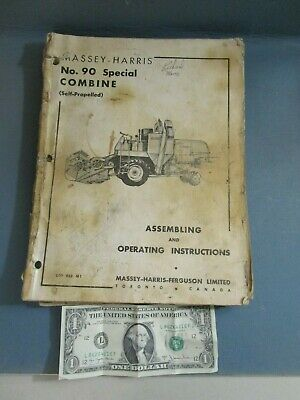 Massey Harris No. 90  Combine Owner's Manual Assembling & Operating Instructions