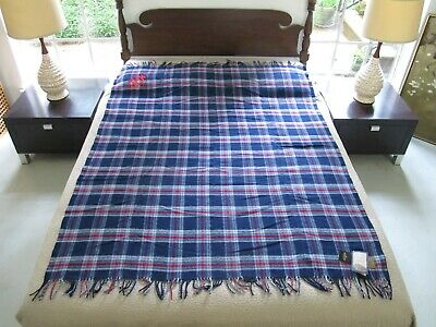 """DAMAGED BY MOTH But With Store Tags PENDLETON 100% Wool Motor Blanket; 66"""" x 52"""""""
